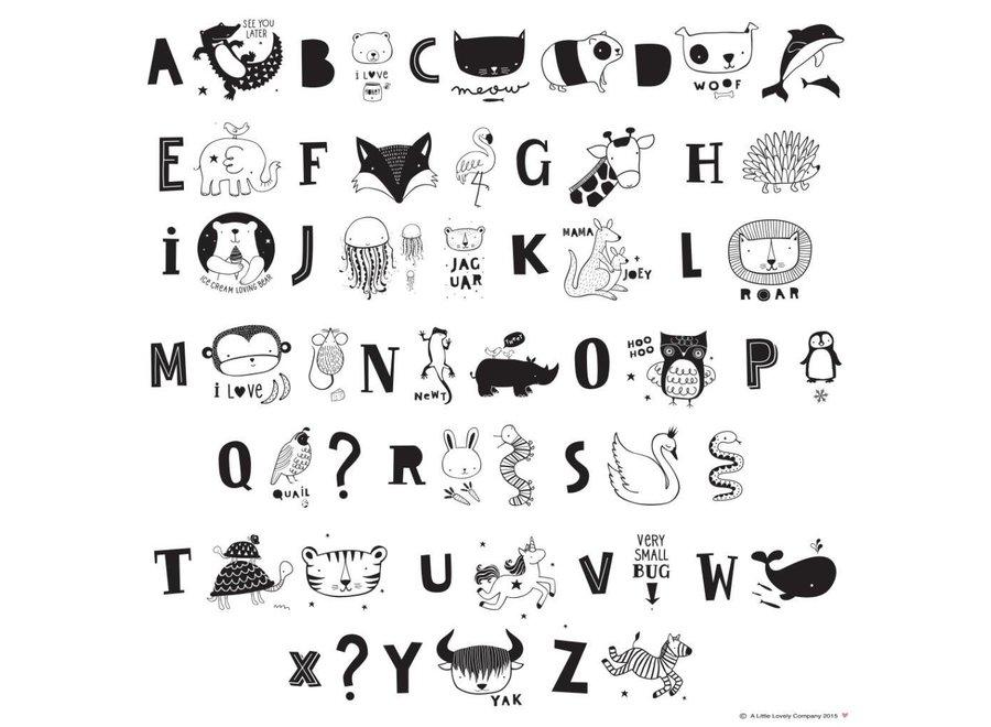 Letterset ABC Zwart voor lightbox   A little lovely company