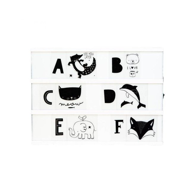 Letterset ABC Zwart voor lightbox | A little lovely company