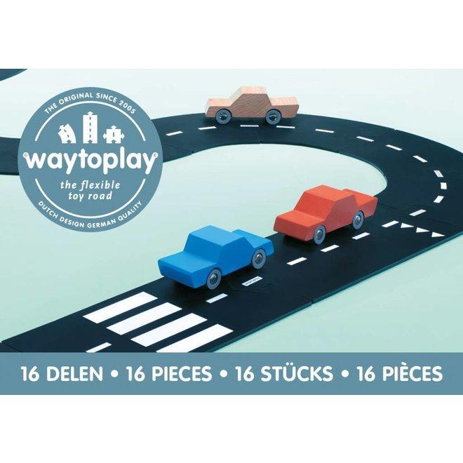 Autobaan Autoweg (16-delige set)   WaytoPlay