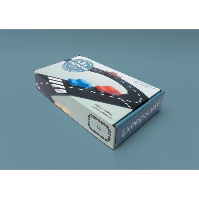 Autobaan Autoweg (16-delige set) | WaytoPlay