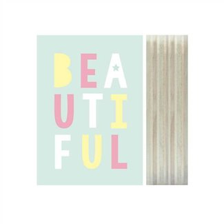 Print on wood - Beautiful | Dots Lifestyle