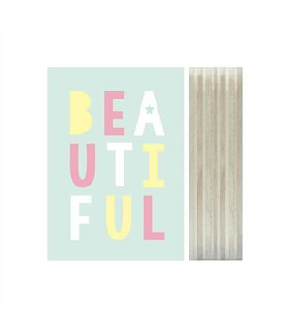 Print on wood - Beautiful | Dots Lifestyle