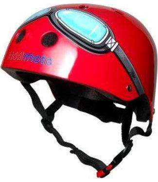 Kiddimoto Skate- & fietshelm rood met bril | Kiddimoto