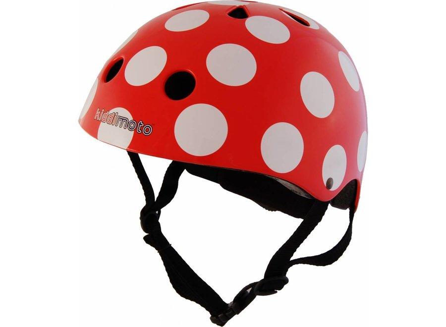 Skate- & fietshelm 'red dotty'   Kiddimoto