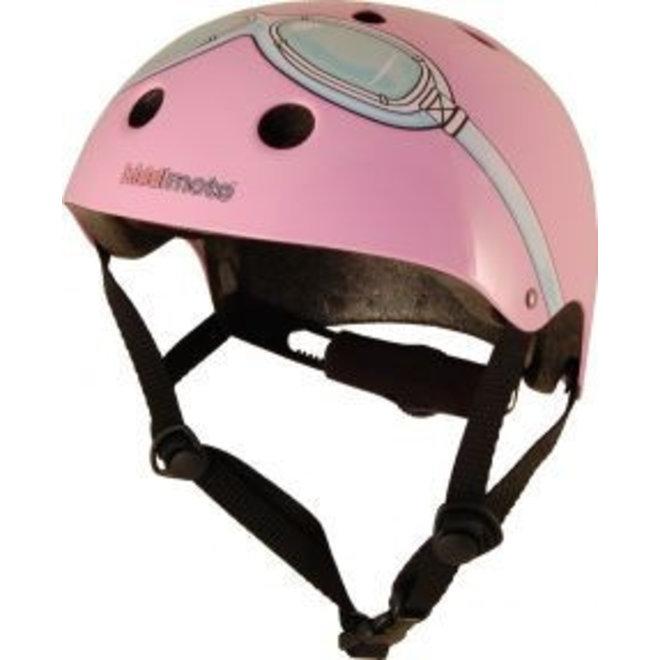 Skate- & fietshelm roze met bril | Kiddimoto