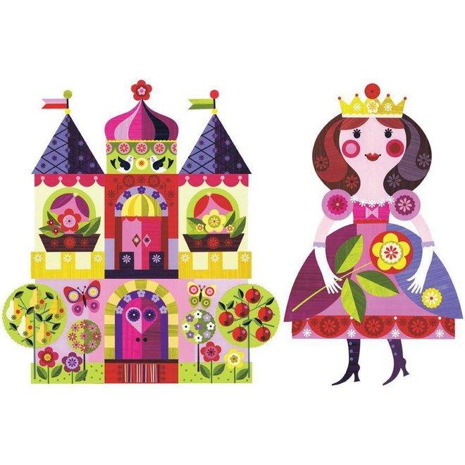 Muurstickers Prinses & Kasteel
