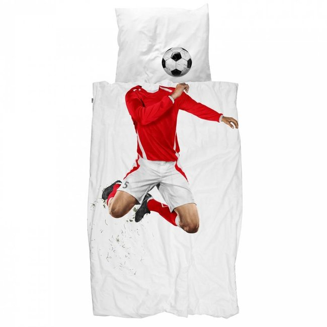 Dekbedovertrek Voetbal Rood | Snurk