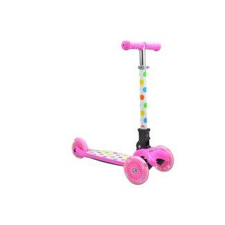 Kiddimoto Step met 3 wielen - U-Zoom Pastel Dotty | Kiddimoto