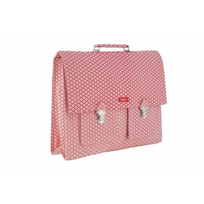 2 vaks-boekentas / Schooltas XL Chine   Bakker made with love