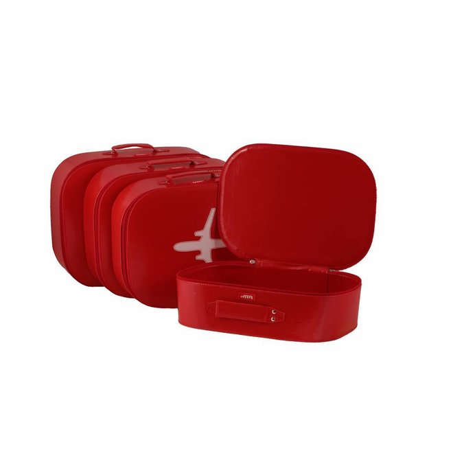 Koffer vliegtuig Rood | Bakker made with love