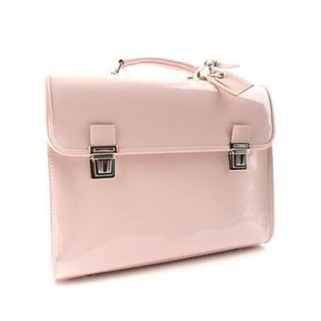 6491e4ccd02 Stijlvolle boekentas lakleder roze   Escudama   Kids with Flair ...