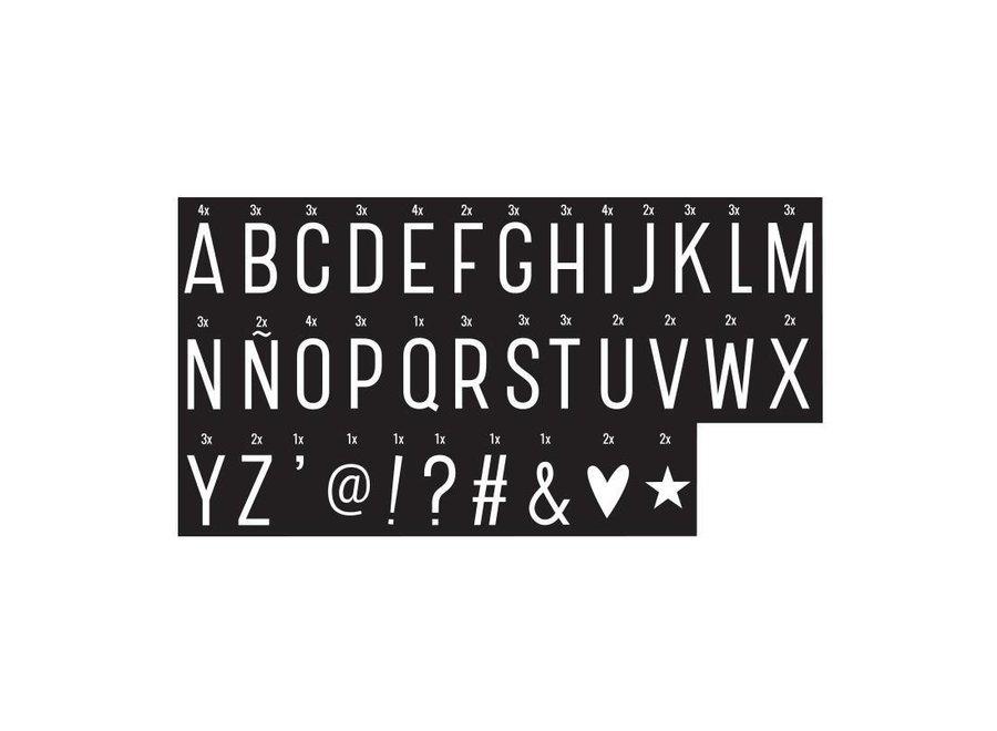 Letterset monochrome voor lightbox | A little lovely company
