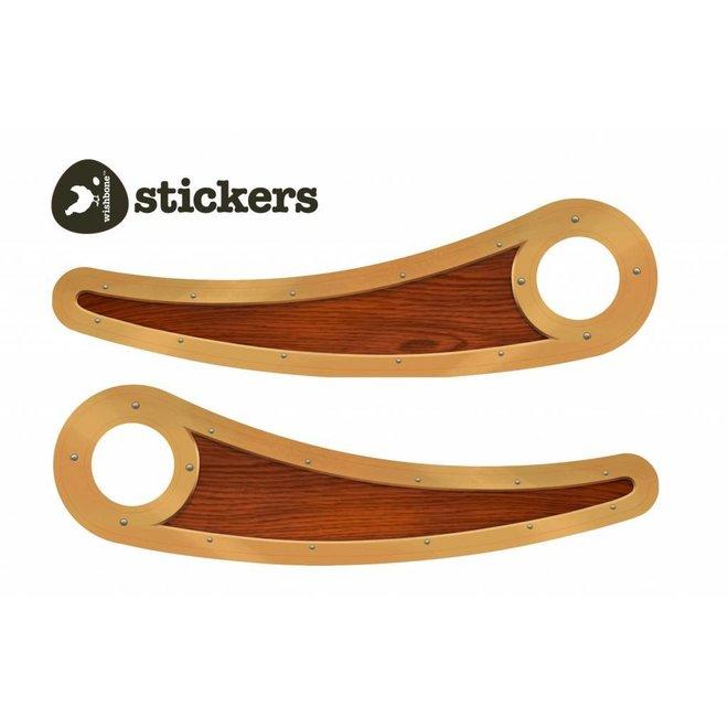 Pimp stickers voor loopfiets recycled edition - Woody | Wishbone Bike