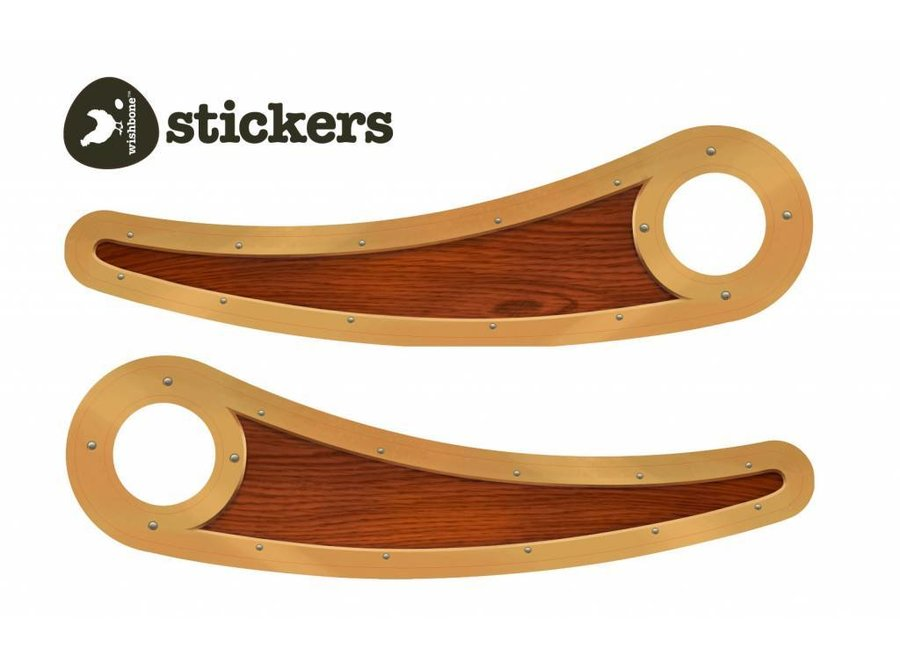 Pimp stickers voor loopfiets recycled edition - Woody | Wishbone Bike
