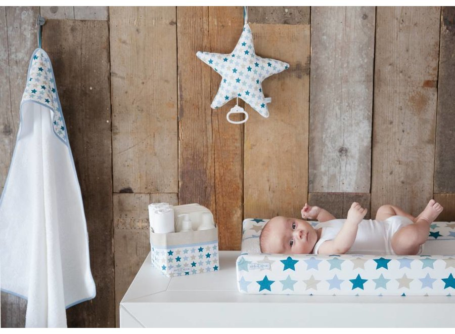 Badcape baby - Mixed Stars Mint | Little Dutch