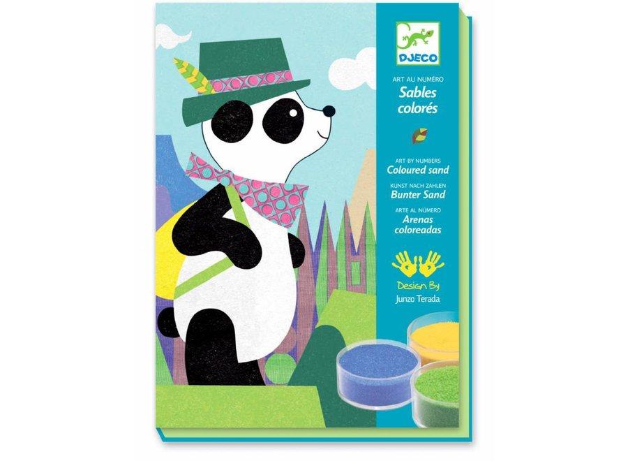 Knutseldoos Gekleurd Zand Panda | Djeco