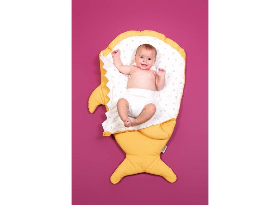 Slaapzak & Voetenzak Haai Mustard | Baby Bites