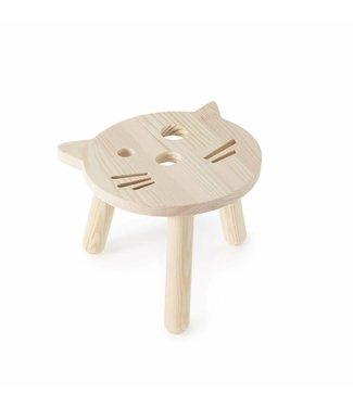 Miniwoo Houten kinderkrukje Kat | Miniwoo