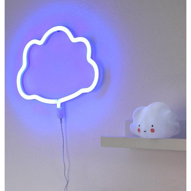 Neon Lamp Wolk Blauw   A Little Lovely Company