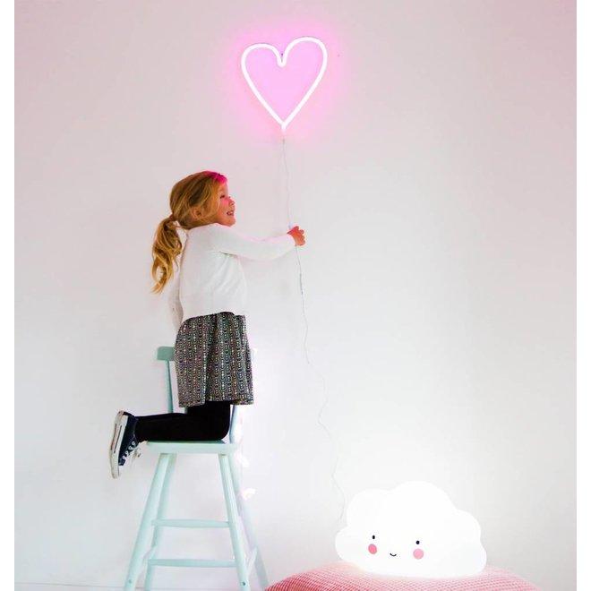 Neon Lamp Hart Roze | A Little Lovely Company
