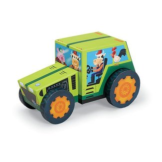 Crocodile Creek Puzzle & Play 24st Tractor | Crocodile Creek