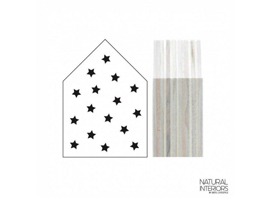 Houten Huisje Stars Wit | Dots Lifestyle