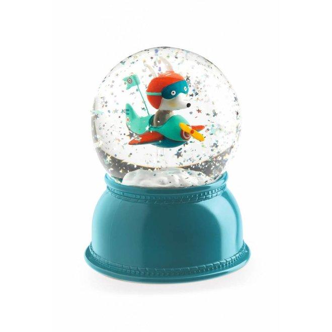 Nachtlampje en sneeuwbol Vliegtuig | Djeco