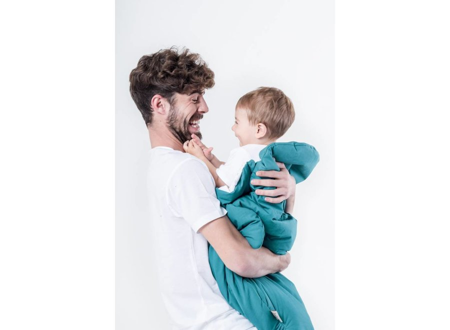 Slaapzak & Voetenzak Haai Esmerald Green   Baby Bites