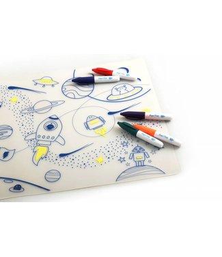 Super Petit Placemat met kleurtjes - In de ruimte | Super Petit