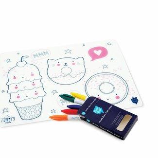 Super Petit Placemat met kleurtjes - SPECIAL EDITION Lovely   Super Petit