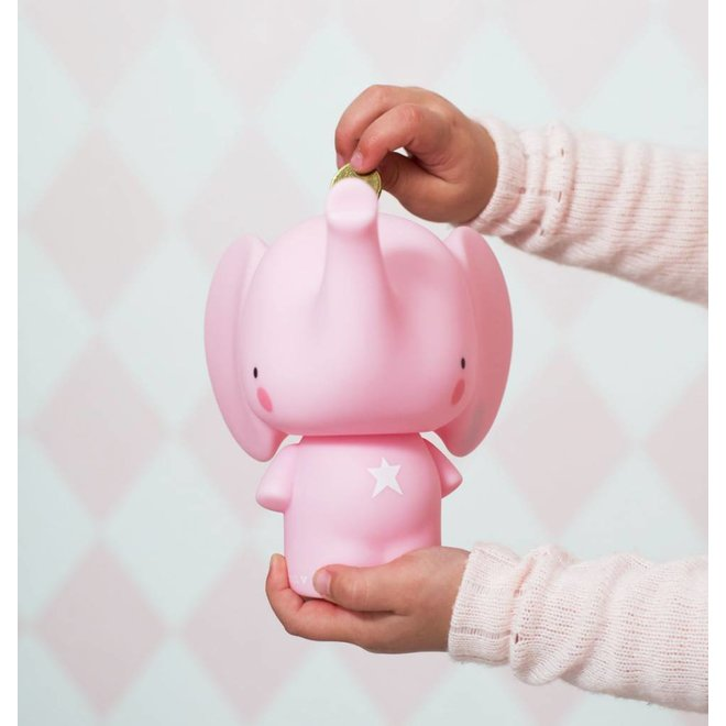 A little lovely Company | Spaarpot Money Box Olifant Roos