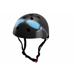Kiddimoto Skate- & fietshelm Zwart met bril | Kiddimoto