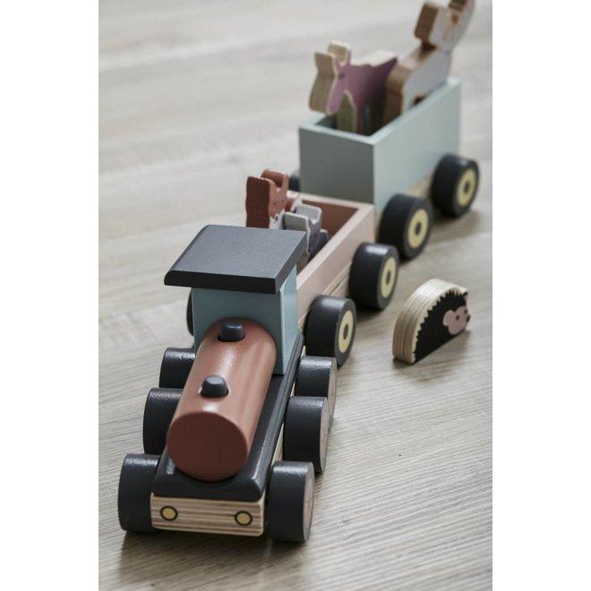 Houten Speeltrein met Diertjes Edvin | Kid's concept