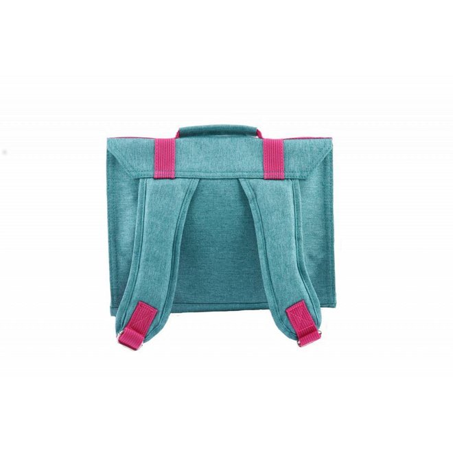 Kleuterboekentas / Schooltasje MB Cordura Happy Turquoise | Bakker made with love