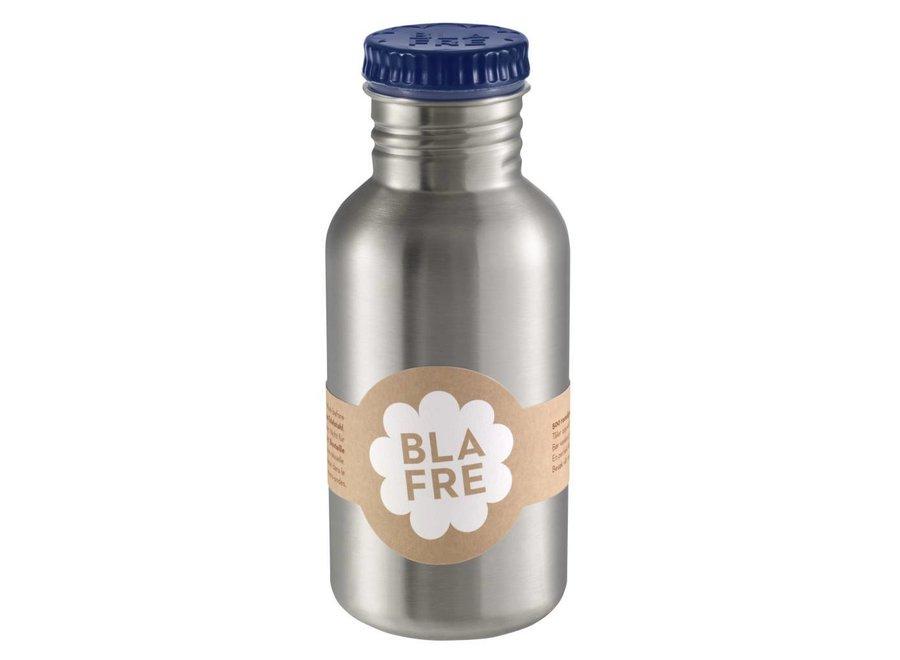 Stalen Drinkfles 500ml Donkerblauw   Blafre