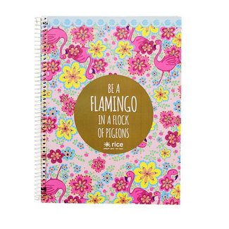Rice Notitieboek met harde kaft Flamingo | Rice