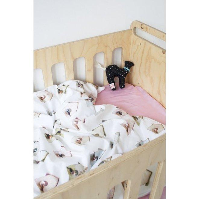 Dekbedovertrek Ledikant Vogelhuisjes | Studio Ditte