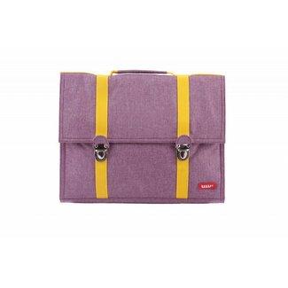 Bakker made with Love Boekentas / Schooltas Groot Cordura Happy Purple | Bakker made with love