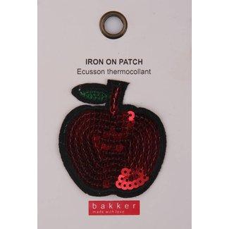Bakker made with Love Iron On Patch Apple voor op Boekentas / Schooltas Cordura Happy | Bakker made with love