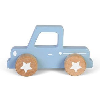 Little Dutch Houten Auto Pick up Mixed Stars Lichtblauw | Little Dutch