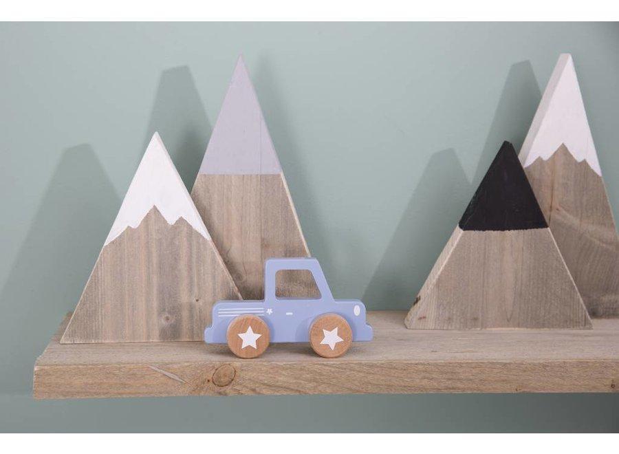 Houten Auto Pick up Mixed Stars Lichtblauw | Little Dutch