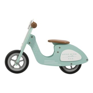 Little Dutch Houten Loopfiets Scooter Mint | Little Dutch