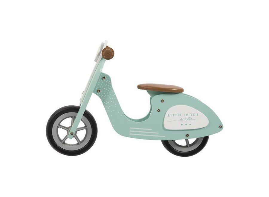 Houten Loopfiets Scooter Mint | Little Dutch