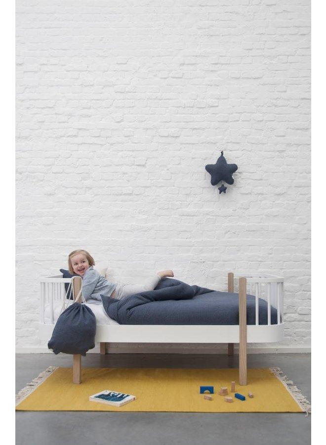 Dekbedovertrek & kussensloop (ledikant) - Midnight Blue | Trixie Baby
