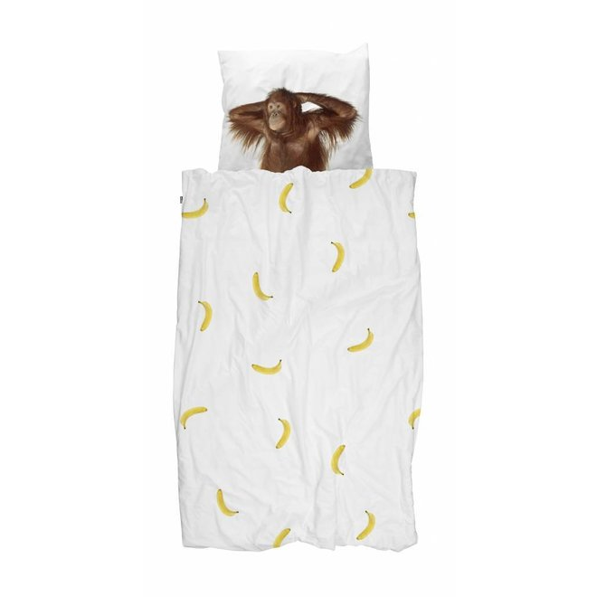 Eenpersoons Dekbedovertrek Banana Monkey | Snurk