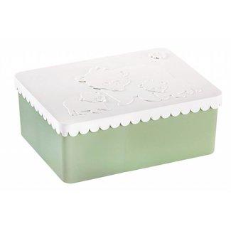 Blafre Brooddoos/lunchbox Ijsbeer wit-groen | Blafre