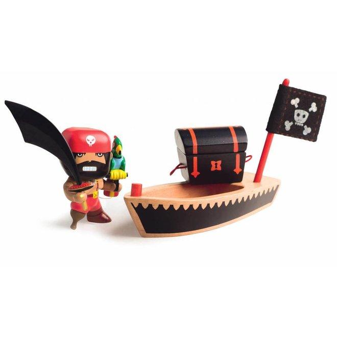 Djeco | Arty Toys Actiefiguur PIRAAT El Loco met Piratenboot