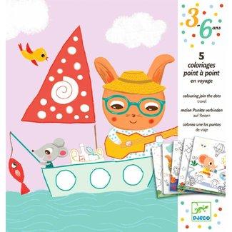 Djeco Djeco | Punten verbinden - op vakantie