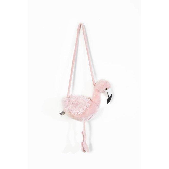 Handtasje Roze Flamingo   Wild & Soft