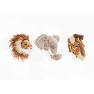 Wild & Soft Safari Geschenkdoos Mini Olifant-Leeuw-Giraf | Wild & Soft